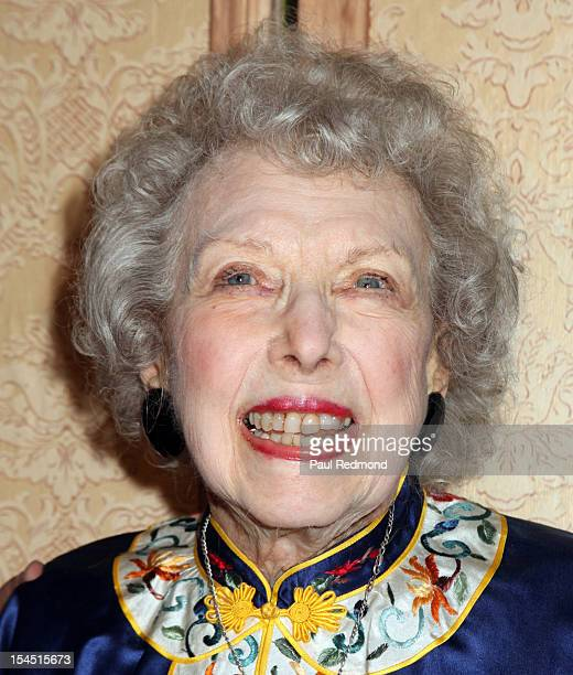 Actress Carla Laemmle attends Hollywood Actress Carla Laemmle Celebrates 103rd Birthday at The Silent Movie Theater on October 20 2012 in Los Angeles...