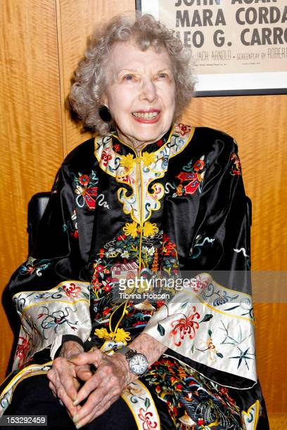 Actress Carla Laemmle attends the Academy of Motion Pictures Arts Sciences' and Universal Studios screening of 'The Bride Of Frankenstein' and...