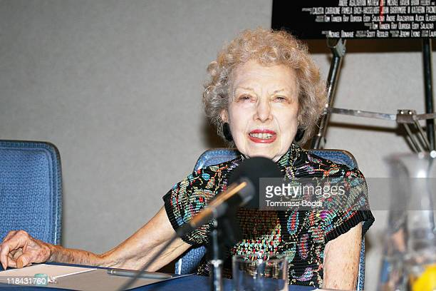 Actress Carla Laemmle attends the 'Mansion Of Blood' press conference held at the Renaissance Hollywood Hotel on July 7 2011 in Hollywood California