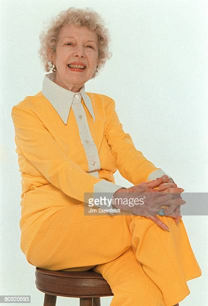 Actress Carla Laemmle who spoke the first words in the opening scene of the 1931 Horror film Dracula poses for a portrait in Los Angeles California...