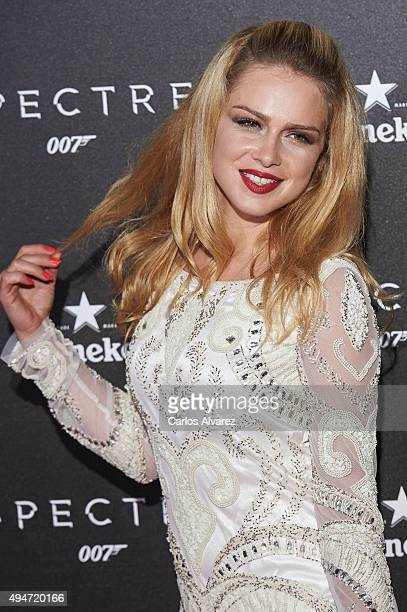 Actress Carla Nieto attends the 'Spectre' premiere at the Royal Theater on October 28 2015 in Madrid Spain