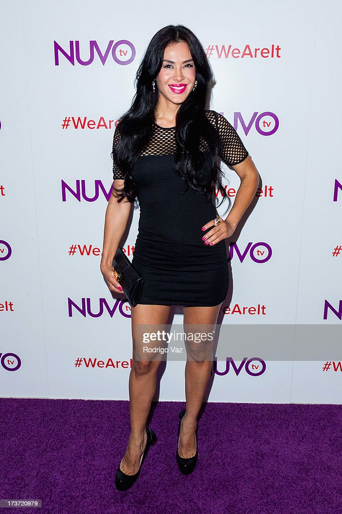 Actress Carla Ortiz attends NUVOtv Network launch party at The London West Hollywood on July 16, 2013 in West Hollywood, California.