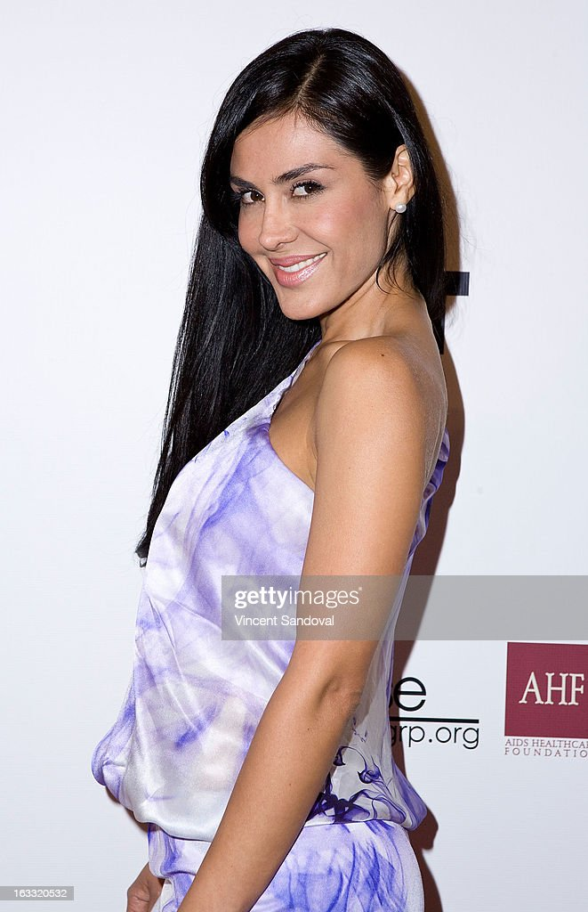 Actress Carla Ortiz attends OUT magazines celebration of LA fashion week with OUT fashion benefiting the AIDS Healthcare Foundation at Pacific Design Center on March 7, 2013 in West Hollywood, California.