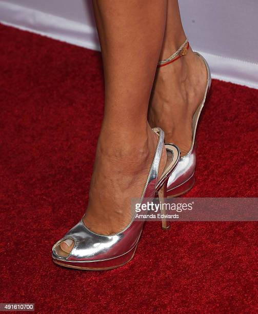 Actress Carla Ortiz shoe detail arrives at the Latina 'Hot List' Party hosted by Latina Media Ventures at The London West Hollywood on October 6 2015...