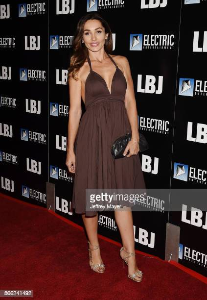 Actress Carlotta Montanari arrives at the premiere of Electric Entertainment's 'LBJ' at the Arclight Theatre on October 24 2017 in Los Angeles...
