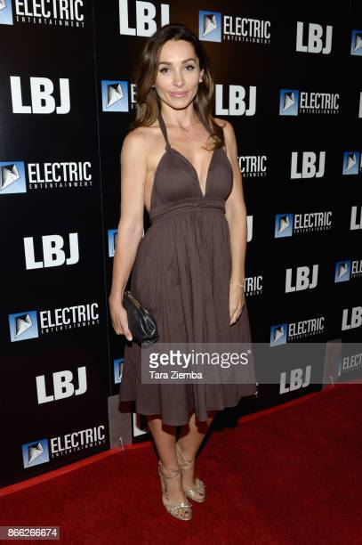 Actress Carlotta Montanari attends the Los Angeles premiere of 'LBJ' at ArcLight Hollywood on October 24 2017 in Hollywood California