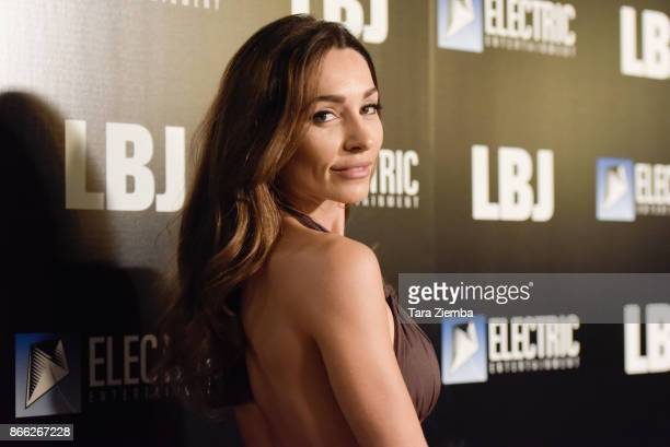 Actress Carlotta Montanari attends the premiere of Electric Entertainment's 'LBJ' at ArcLight Hollywood on October 24 2017 in Hollywood California
