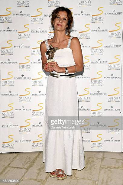 Actress Carlotta Natoli attends the 12th Salento Finibus Terrae sponsors by Baume Mercier at Borgo Egnazia on July 16 2014 in Brindisi Italy