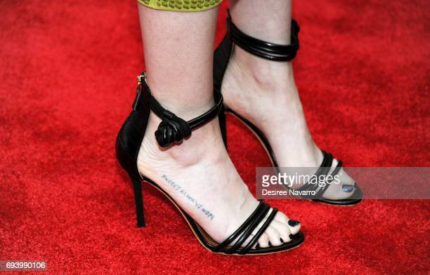 Actress Carly Chaikin shoe detail attends 'Mr Robot' FYC Screening at The Metrograph on June 8 2017 in New York City