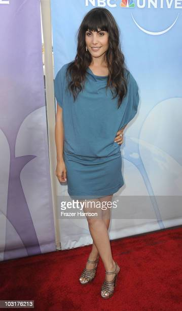 Actress Carly Pope arrives at NBC Universal's 2010 TCA Summer Party at the Beverly Hilton Hotel on July 30 2010 in Beverly Hills California