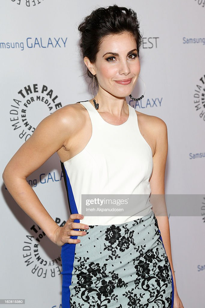 Actress Carly Pope attends the Inaugural PaleyFest Icon Award honoring Ryan Murphy at The Paley Center for Media on February 27, 2013 in Beverly Hills, California.