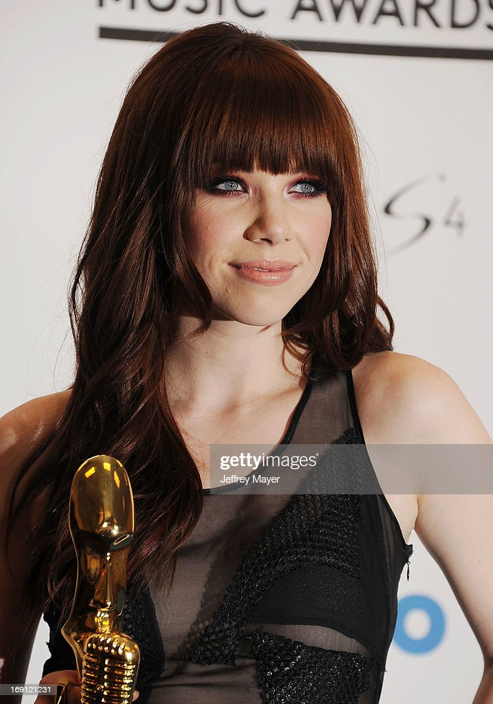 Actress <a gi-track='captionPersonalityLinkClicked' href=/galleries/search?phrase=Carly+Rae+Jepsen&family=editorial&specificpeople=6903584 ng-click='$event.stopPropagation()'>Carly Rae Jepsen</a> poses in the press room at the 2013 Billboard Music Awards at MGM Grand Garden Arena on May 19, 2013 in Las Vegas, Nevada.