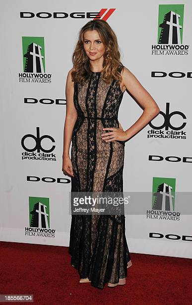 Actress Carly Steel arrives at the 17th Annual Hollywood Film Awards at The Beverly Hilton Hotel on October 21 2013 in Beverly Hills California