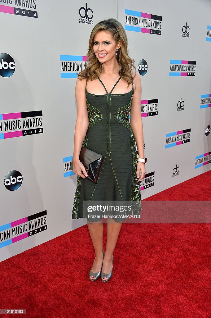 Actress Carly Steel attends 2013 American Music Awards at Nokia Theatre LA Live on November 24 2013 in Los Angeles California