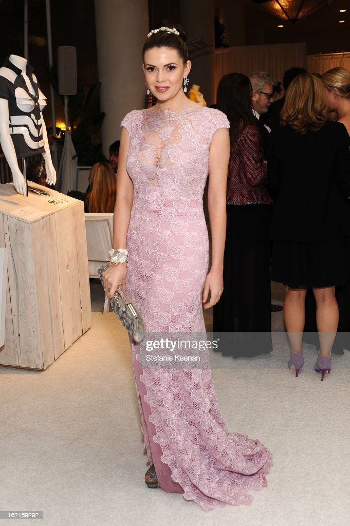 Actress Carly Steel attends the 15th Annual Costume Designers Guild Awards with presenting sponsor Lacoste at The Beverly Hilton Hotel on February 19, 2013 in Beverly Hills, California.