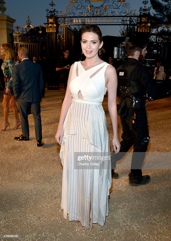 Actress Carly Steel attends the Burberry 'London in Los Angeles' event at Griffith Observatory on April 16 2015 in Los Angeles California