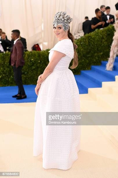 Actress Carly Steel attends the 'Rei Kawakubo/Comme des Garcons Art Of The InBetween' Costume Institute Gala at Metropolitan Museum of Art on May 1...