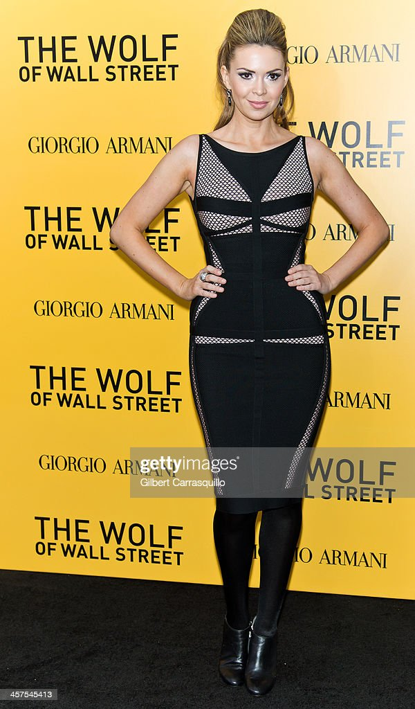 Actress <a gi-track='captionPersonalityLinkClicked' href=/galleries/search?phrase=Carly+Steel&family=editorial&specificpeople=3963749 ng-click='$event.stopPropagation()'>Carly Steel</a> attends the 'The Wolf Of Wall Street' premiere at Ziegfeld Theater on December 17, 2013 in New York City.