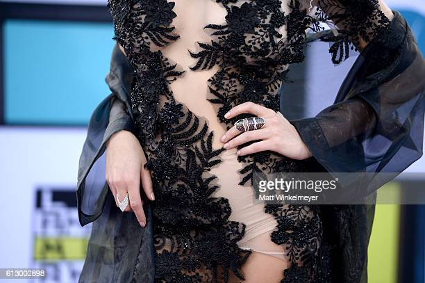 Actress Carmen Aub fashion detail attends the 2016 Latin American Music Awards at Dolby Theatre on October 6 2016 in Hollywood California