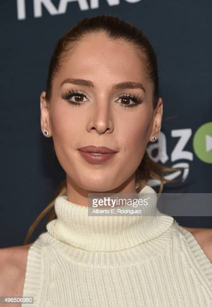 Actress Carmen Carrera attends the Premiere Of Amazon's 'Transparent' Season 2 at SilverScreen Theater at the Pacific Design Center on November 9...