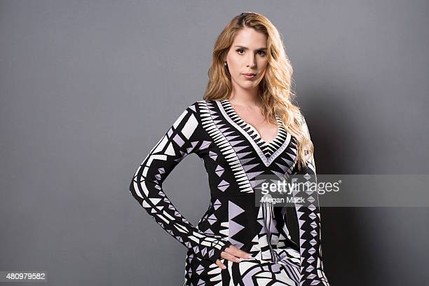 Actress Carmen Carrera poses for a portrait at the Logo TV's 'Trailblazers' at the Cathedral of St John the Divine on June 25 2015 in New York City