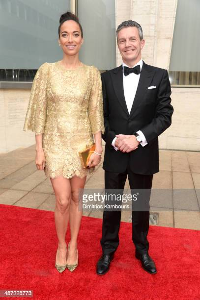 Actress Carmen Chaplin and JaegerLeCoultre CEO Daniel Riedo attend the 41st Annual Chaplin Award Gala at Avery Fisher Hall at Lincoln Center for the...