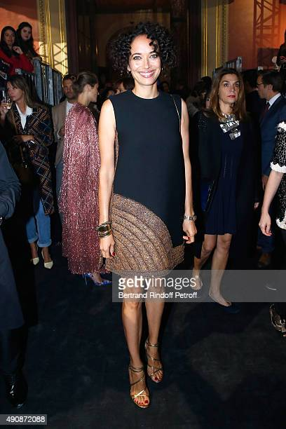 Actress Carmen Chaplin attends the Lanvin show as part of the Paris Fashion Week Womenswear Spring/Summer 2016 on October 1 2015 in Paris France