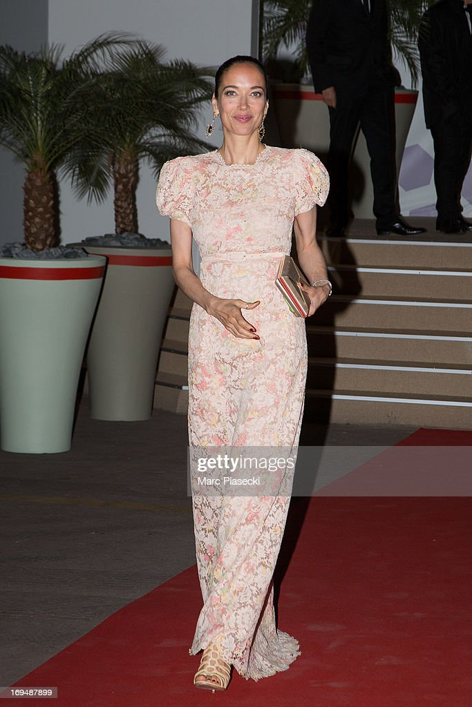 Actress Carmen Chaplin is seen leaving the 'Agora' dinner during the 66th Annual Cannes Film Festival on May 25, 2013 in Cannes, France.
