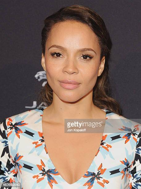 Actress Carmen Ejogo arrives at the 2015 BAFTA Tea Party at The Four Seasons Hotel on January 10 2015 in Beverly Hills California