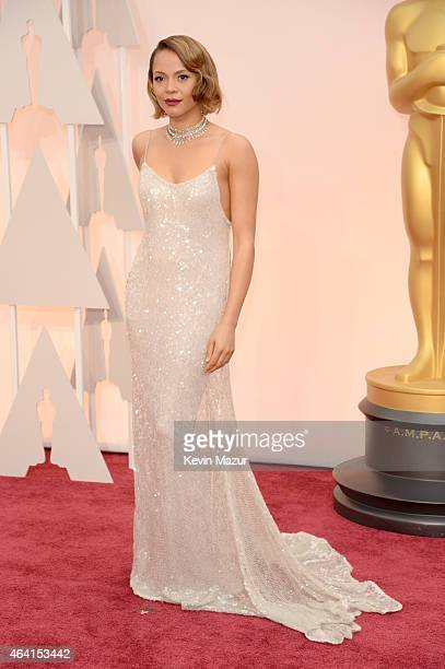 Actress Carmen Ejogo arrives in Chopard to the 87th Annual Academy Awards at Hollywood Highland Center on February 22 2015 in Hollywood California