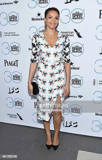 Actress Carmen Ejogo attends the 2015 Film Independent Filmmaker Grant and Spirit Awards nominee brunch at BOA Steakhouse on January 10 2015 in West...