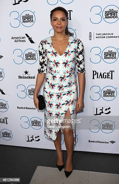 Actress Carmen Ejogo attends the 2015 Film Independent Filmmaker Grant and Spirit Awards Nominees Brunch at BOA Steakhouse on January 10 2015 in West...