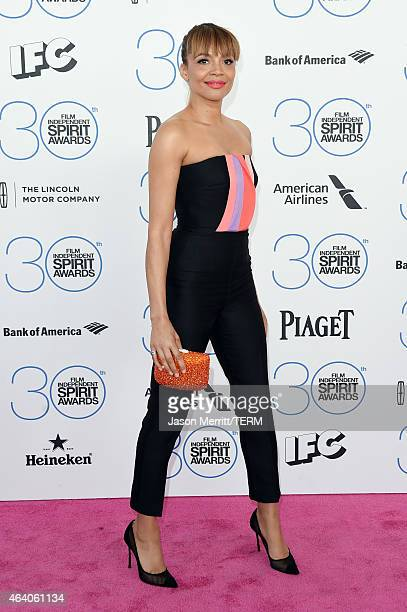 Actress Carmen Ejogo attends the 2015 Film Independent Spirit Awards at Santa Monica Beach on February 21 2015 in Santa Monica California