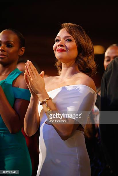 Actress Carmen Ejogo attends the 46th NAACP Image Awards presented by TV One at Pasadena Civic Auditorium on February 6 2015 in Pasadena California