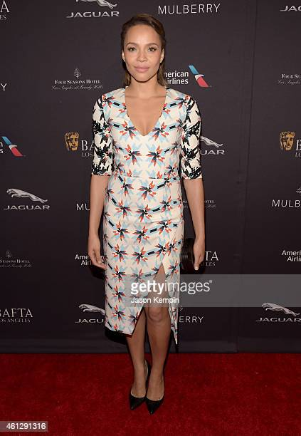 Actress Carmen Ejogo attends the BAFTA Los Angeles Tea Party at The Four Seasons Hotel Los Angeles At Beverly Hills on January 10 2015 in Los Angeles...