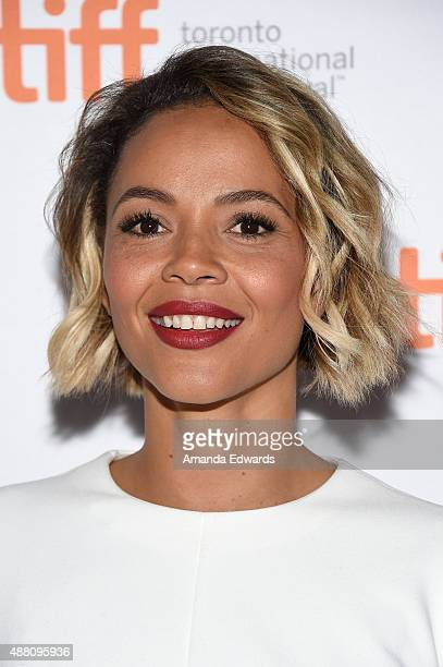 Actress Carmen Ejogo attends the 'Born to Be Blue' premiere during the 2015 Toronto International Film Festival at the Winter Garden Theatre on...