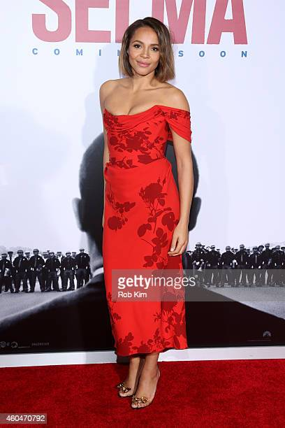 Actress Carmen Ejogo attends the 'Selma' New York Premiere at Ziegfeld Theater on December 14 2014 in New York City