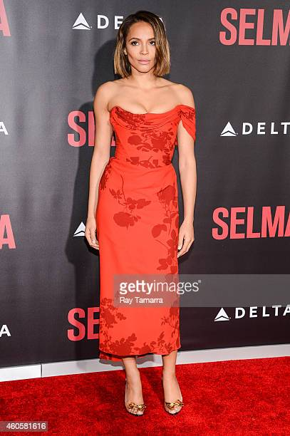 Actress Carmen Ejogo enters the 'Selma' New York Premiere at the Ziegfeld Theater on December 14 2014 in New York City