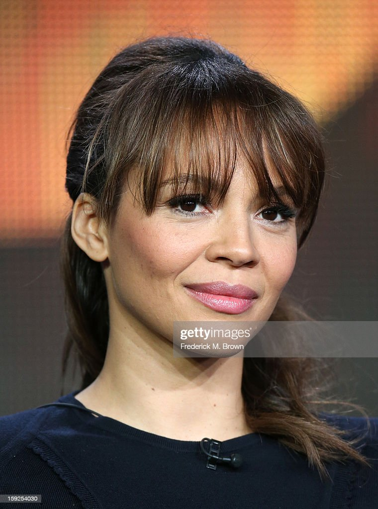 Actress Carmen Ejogo of 'Zero Hour' speaks onstage during the ABC portion of the 2013 Winter TCA Tour at Langham Hotel on January 10, 2013 in Pasadena, California.