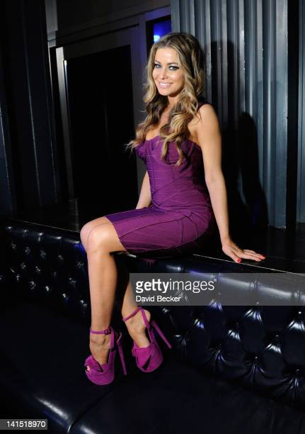 Actress Carmen Electra appears at the Chateau Nightclub Gardens at the Paris Las Vegas on March 17 2012 in Las Vegas Nevada