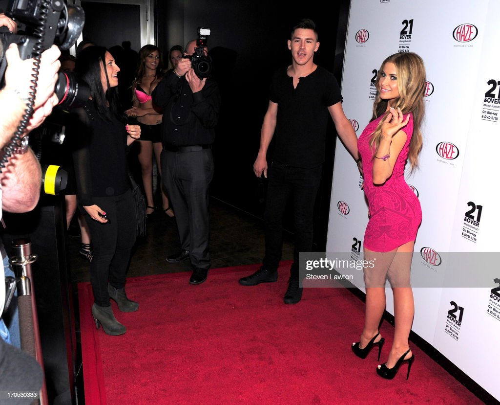 Actress <a gi-track='captionPersonalityLinkClicked' href=/galleries/search?phrase=Carmen+Electra&family=editorial&specificpeople=171242 ng-click='$event.stopPropagation()'>Carmen Electra</a> arrives at Haze Nightclub at the Aria Resort & Casino at CityCenter on June 13, 2013 in Las Vegas, Nevada.