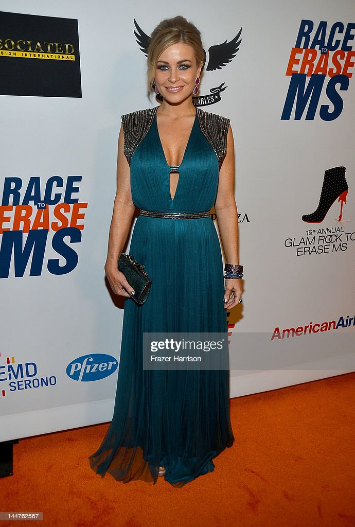Actress Carmen Electra arrives at the 19th Annual Race to Erase MS held at the Hyatt Regency Century Plaza on May 18, 2012 in Century City, California.