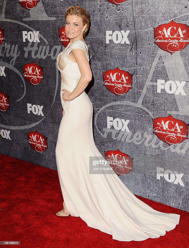 Actress Carmen Electra arrives at the 2012 American Country Awards at Mandalay Bay on December 10, 2012 in Las Vegas, Nevada.