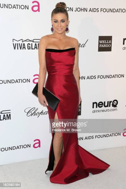 Actress Carmen Electra arrives at the 21st Annual Elton John AIDS Foundation's Oscar Viewing Party on February 24 2013 in Los Angeles California