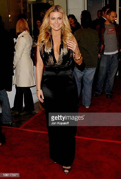 Actress Carmen Electra arrives at the Los Angeles Premiere 'Meet The Spartans' at the Festival Theater on January 23 2008 in Westwood California