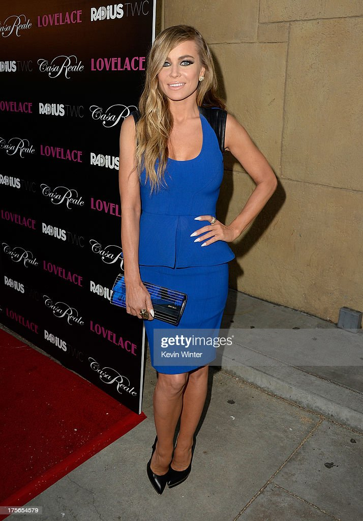 Actress <a gi-track='captionPersonalityLinkClicked' href=/galleries/search?phrase=Carmen+Electra&family=editorial&specificpeople=171242 ng-click='$event.stopPropagation()'>Carmen Electra</a> arrives at the premiere of RADiUS-TWC's 'Lovelace' at the Egyptian Theatre on August 5, 2013 in Hollywood, California.