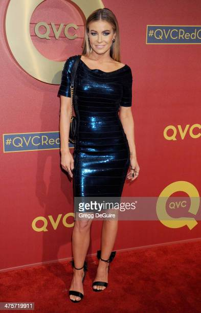 Actress Carmen Electra arrives at the QVC 5th Annual Red Carpet Style event at The Four Seasons Hotel on February 28 2014 in Beverly Hills California