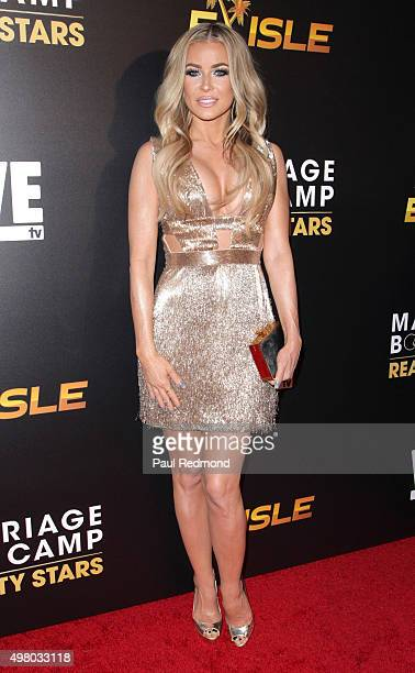 Actress Carmen Electra arrives at We tv celebrates the Premiere of 'Marriage Boot Camp' Reality Stars and 'Exisled' at Le Jardin on November 19 2015...