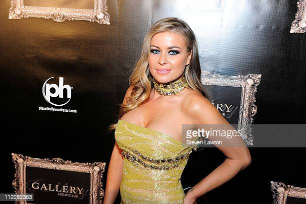 Actress Carmen Electra arrives for the grand opening of Gallery Nightclub at Planet Hollywood on April 16 2011 in Las Vegas Nevada