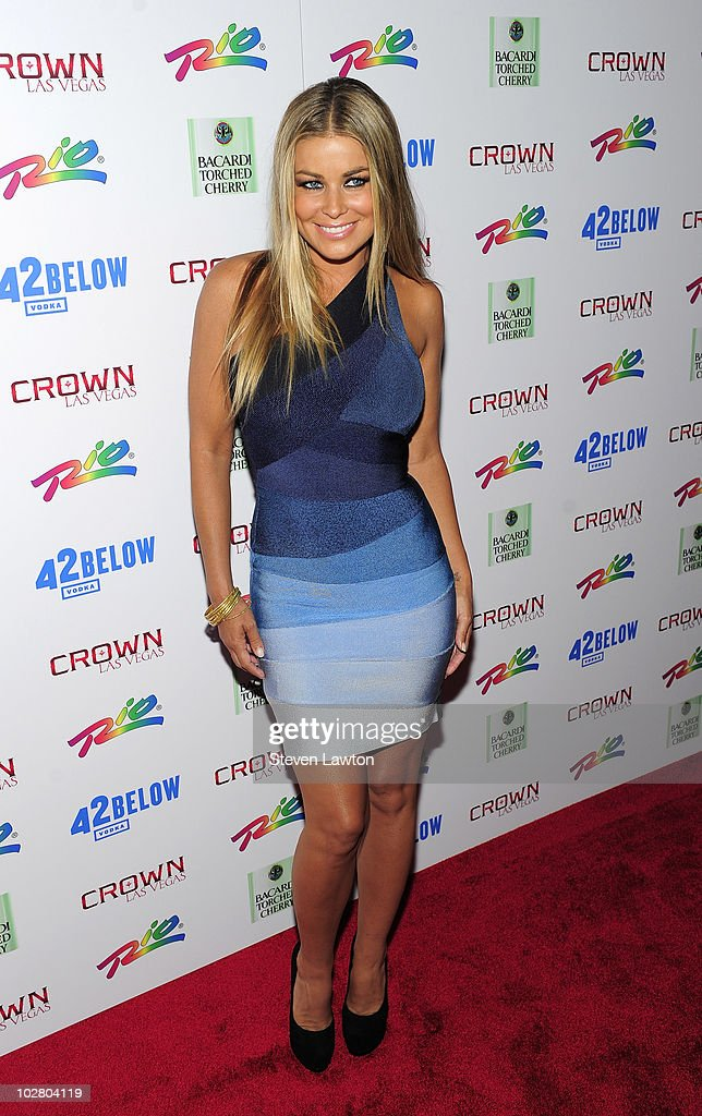 Actress Carmen Electra arrives to host an evening at Crown Nightclub on July 10 2010 in Las Vegas Nevada